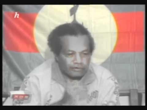 Jean-Marie Tjibaou durant les événements en Kanaky