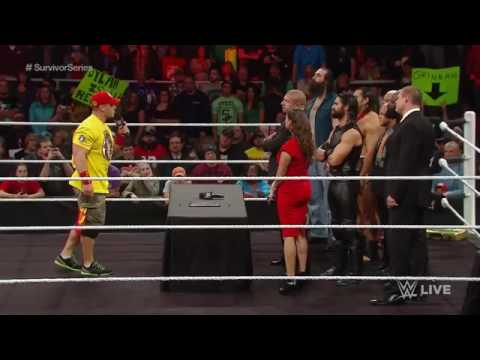 Team Cena vs Team Authority contract signing