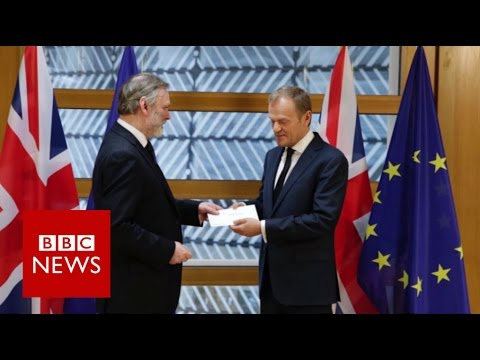 Brexit Live: Triggering Article 50 (House Of Commons)  - BBC News (видео)