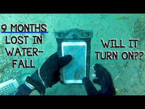Underwater Metal Detecting a WATERFALL - I Found an iPhone, Rings, Pocket Knife (Phone Returned!!!)_Diving. Best of all time