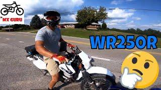 4. I finally get to test ride a Yamaha WR250R !