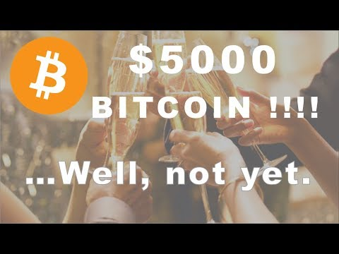 Bitcoin $5000!!!!....Almost but not yet.  Have Alts Bottomed? video