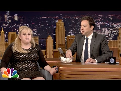 Rebel Wilson plays Chubby Bunny!!!!!
