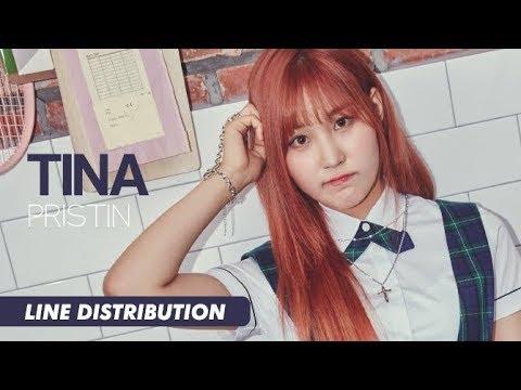 PRISTIN (프리스틴) - Tina (티나)   Line Distribution (видео)