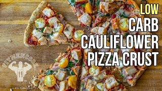How To Make Low-Carb Cauliflower Pizza Crust / Corteza De Pizza Hecha De Coliflor