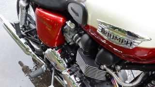 8. For Sale 2012 Triumph Bonneville T-100 only 300 miles at East 11 Motorcycle Exchange LLC