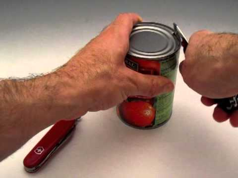 Victorinox - Proper Can Opener Technique - Swiss Army Knife