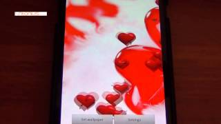 Valentine Hearts Love Free LWP YouTube video