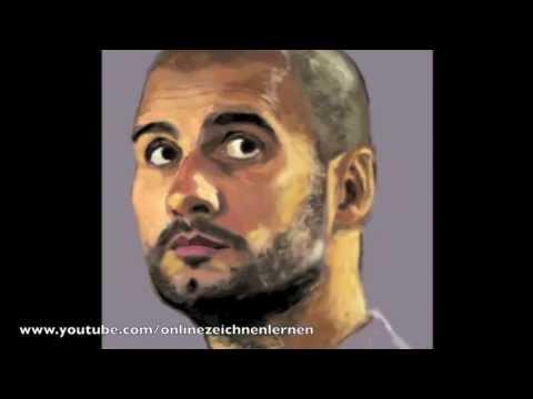 Wie kann man ein Gesicht zeichnen – Pep Guardiola Zeichnung