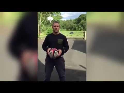 England rugby legend Jonny Wilkinson showing off some skills
