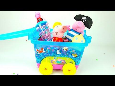 Коробка игрушек и сюрпризов свинка пеппа - DomaVideo.Ru