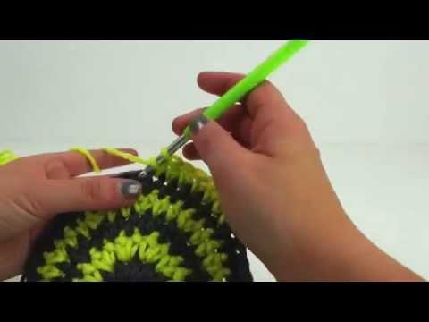 Häkeln Mütze Wintermütze Streifen Farbwechsel einfach 51-55cm grün/grau