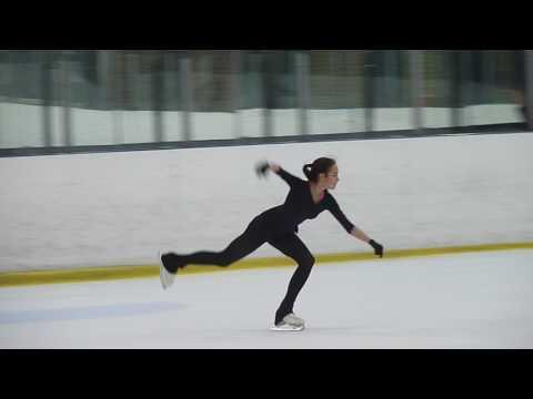 Алина Загитова, КП на тренировке  (15.01.2017)