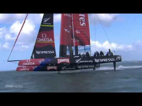 Emirates Team New Zealand - Emirates Team New Zealand AC72 - 6 Sep 2012.