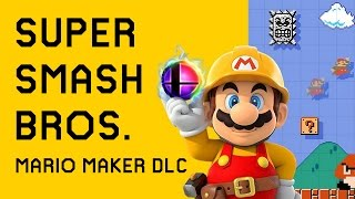 Showing off the randomized levels on the new Mario Maker DLC Map