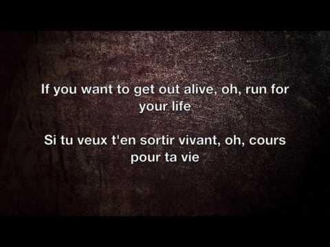 Get Out Alive - Three Days Grace Lyrics English/Français (видео)