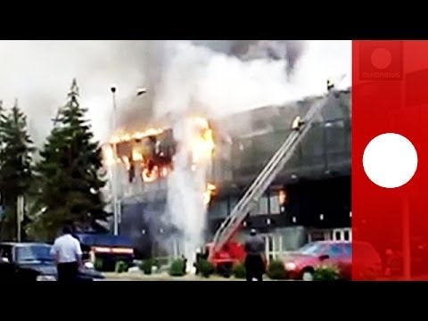 Донецк: Пожар на стадионе