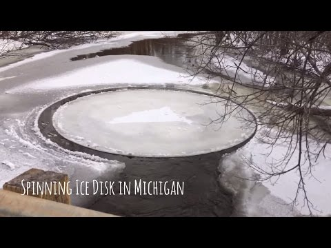 Incredible Natural Ice Discs Spinning in Rivers