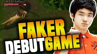 Video Faker's First Professional Game - The Debut Of The Best Player In LoL History ( The God Was Born ) MP3, 3GP, MP4, WEBM, AVI, FLV Agustus 2019