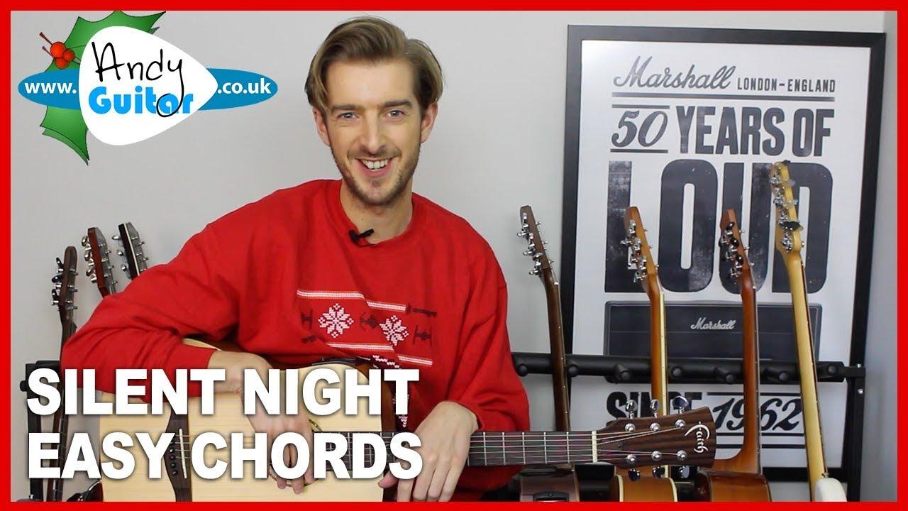Silent Night Guitar lesson tutorial – Easy 4 chord Christmas Guitar Song