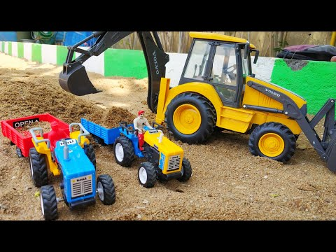 Tractor HMT toy with fully loaded trolley  Toy tractor power  Boom Boom