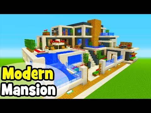 Minecraft Tutorial: How To Make A Modern Mansion #6