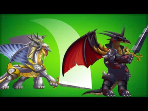 WHITE KNIGHT and BLACK KNIGHT DRAGON from Castle Island Event in Dragon City