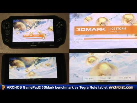 ARCHOS GamePad 2 3DMark benchmark vs Tegra Note (part 2/2)
