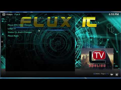 Flux It ANEW FREE TV ADDON FOR KODI -AGUST  10- 8 -2019