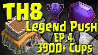 Video TH8 Push 3900+ Cups - Champions 1 - TH8 Push to Legends Series - Episode 4 MP3, 3GP, MP4, WEBM, AVI, FLV Oktober 2017