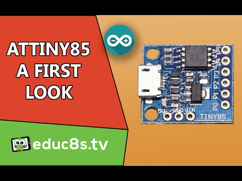 Arduino Tutorial: ATTiny85 board A First Look and review.