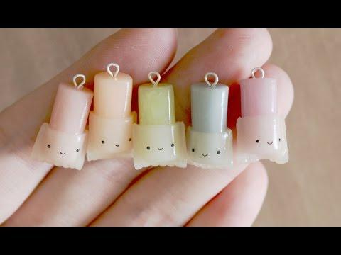fimo - piccolo charms a forma di candela