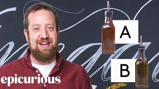 Vinegar Expert Guesses Cheap vs Expensive Vinegar | Price Points | Epicuirous