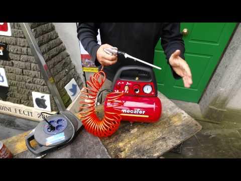 Compressore portatile mecafer 6 lt. 1,5 hp