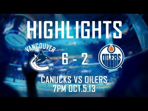 Canucks - Highlights from the Vancouver Canucks home-opening win over the Edmonton Oilers. Six different Canucks scored in the 6-2 win and Henrik Sedin picked up 3 ass...