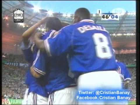 Francia 3 Brasil 0 (Relato Mariano Closs) Copa Mundial 1998 Los goles Francia Campeon