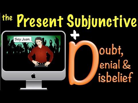 Spanish Present Subjunctive with Doubt, Denial & Disbelief (D)