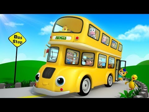 Wheels on the Bus | More Nursery Rhymes & Children Songs | Cartoons by Farmees