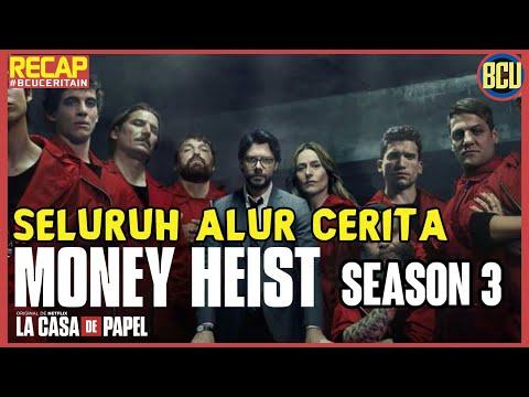 NGERAMPOK LAGI DEMI TEMEN !! RECAP SELURUH ALUR CERITA MONEY HEIST PART 3 (La Casa De Papel)