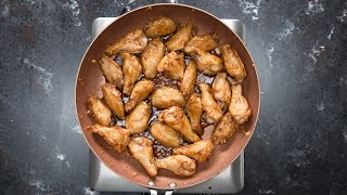 Honey Garlic Chicken Wings by Tasty