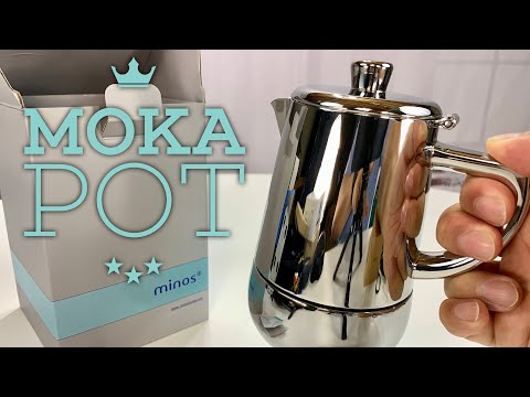 Minos Luxury Stainless Steel 4 Cup Moka Pot Espresso Maker Review