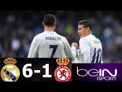 Real Madrid vs Cultural Leonesa 6 -1 - All Goals & Extended Highlights - Copa del Rey 30/11/2016