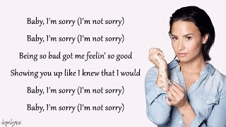 Video Sorry Not Sorry - Demi Lovato (Lyrics) MP3, 3GP, MP4, WEBM, AVI, FLV Januari 2018