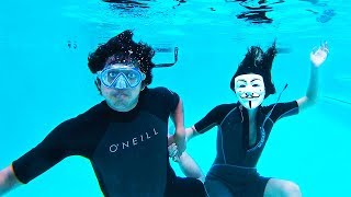 Hacker Girl Underwater Date Breaking Project Zorgo Secret Box (Found CLUES!)