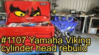 5. Yamaha Viking cylinder head rebuild and installation #1107