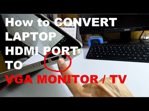Laptop HDMI TO VGA Monitor Adapter Converter Cable with Audio