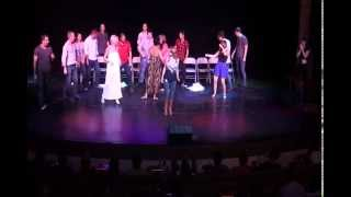Sydney Stage Hypnotist & Mentalist Phoenix hypnotizes a group on stage