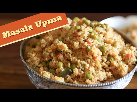 Masala Upma | Healthy And Nutritious Breakfast Recipe | Divine Taste With Anushruti