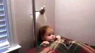 Little Kid Stuck Behind Sofa! Cute & Funny