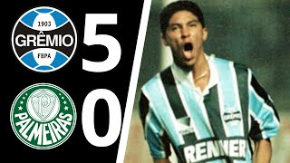 Tricolor Gaúcho goleia o Plameiras pela semifinal da Taça Libertadores da América de 1995, com direito a Hat-trick de Jardel, os outros gols foram marcados por Arce e Arilson.